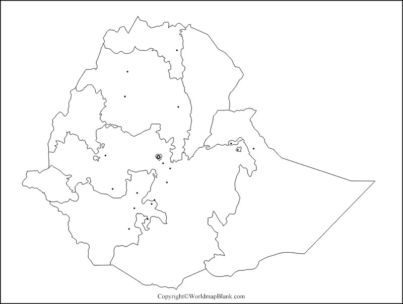 Blank Ethiopia Map Outline