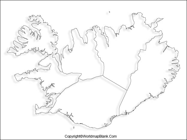 Iceland Blank Map Outline