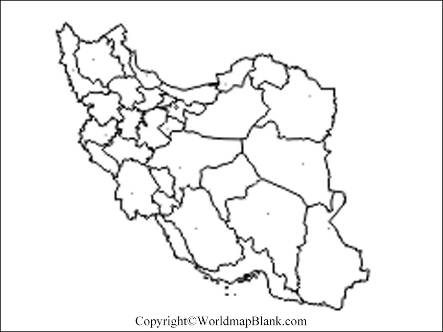 Iran Blank Map Outline