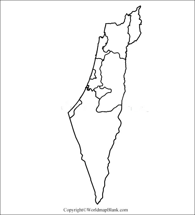 Israel Blank Map Outline