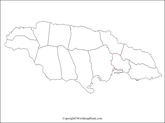 Printable Blank Jamaica Map Outline Transparent Png Map