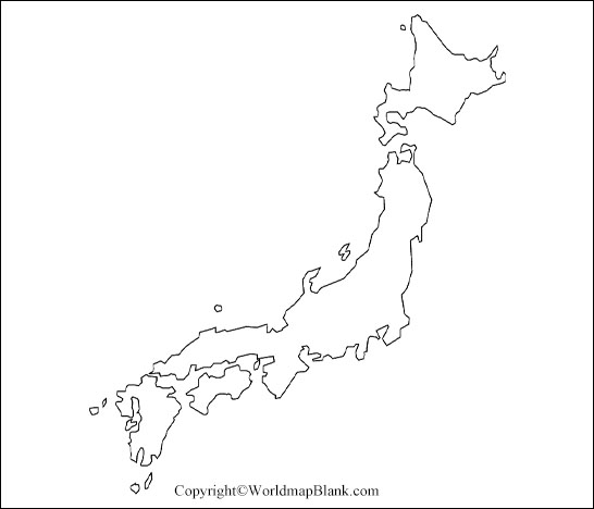 Printable Blank Japan Map Outline Transparent Png Map