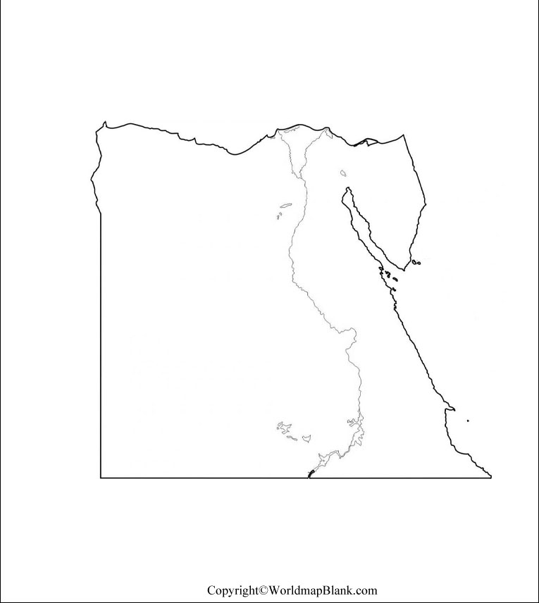 Map of Egypt for Practice Worksheet