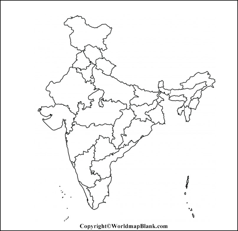 Map of India Worksheet