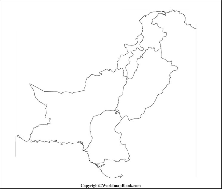 Map of Pakistan for Practice Worksheet