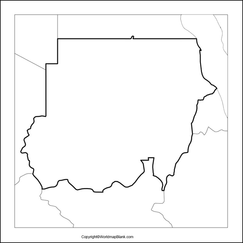 Map of Sudan Practice Worksheet