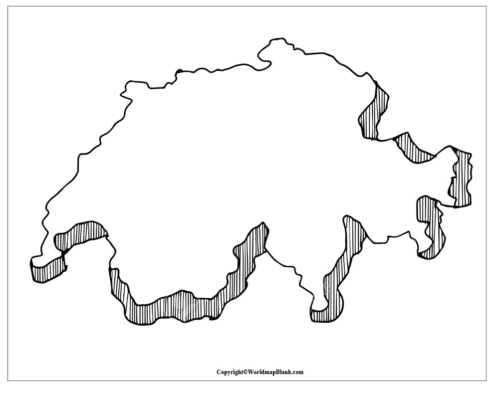 Map of Switzerland Practice Worksheet