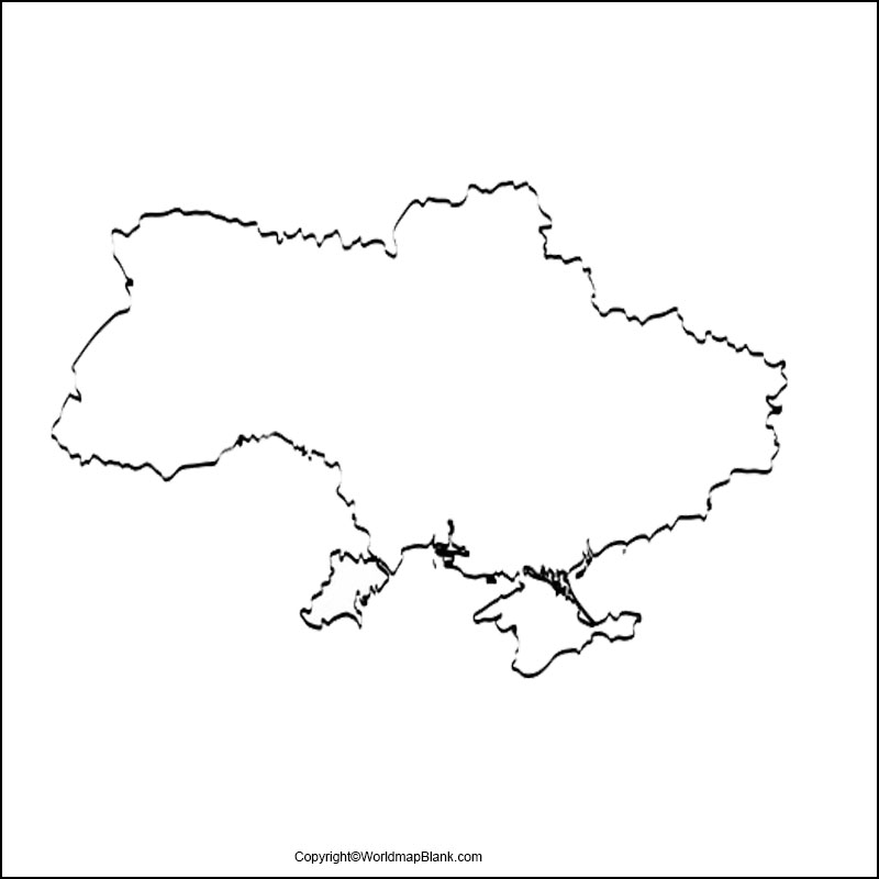 Map of Ukraine Practice Worksheet