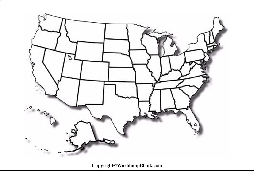 Map of USA worksheet