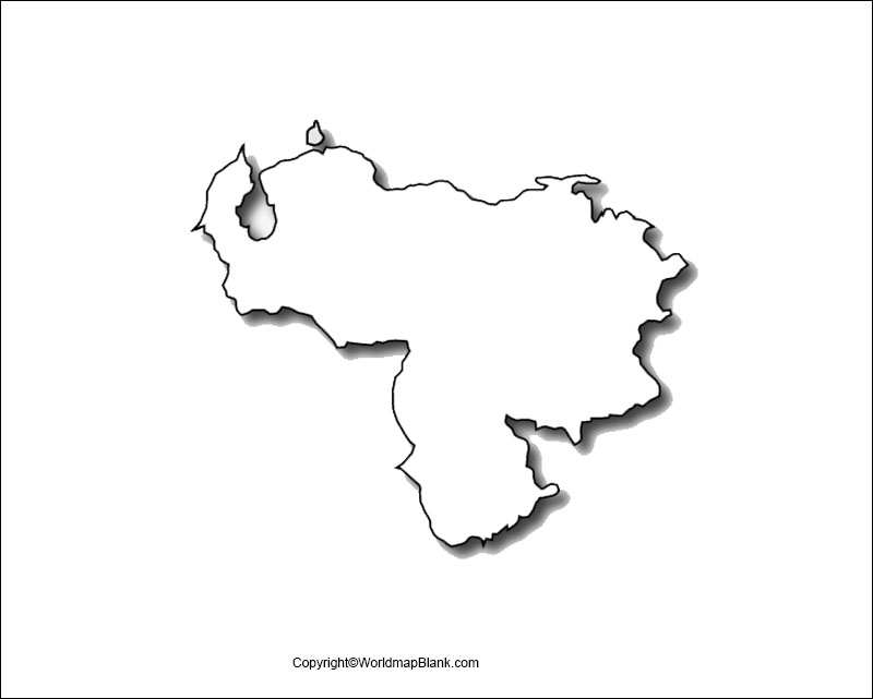 Map of Venezuela Worksheet
