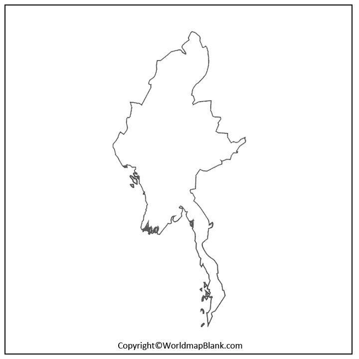 Blank Map of Myanmar