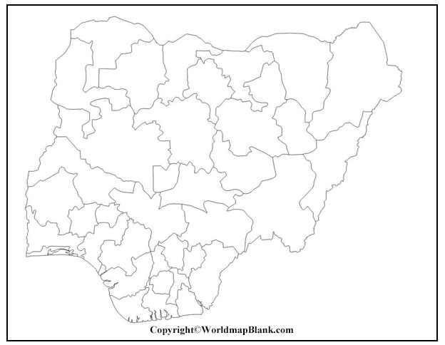 Blank Map of Nigeria