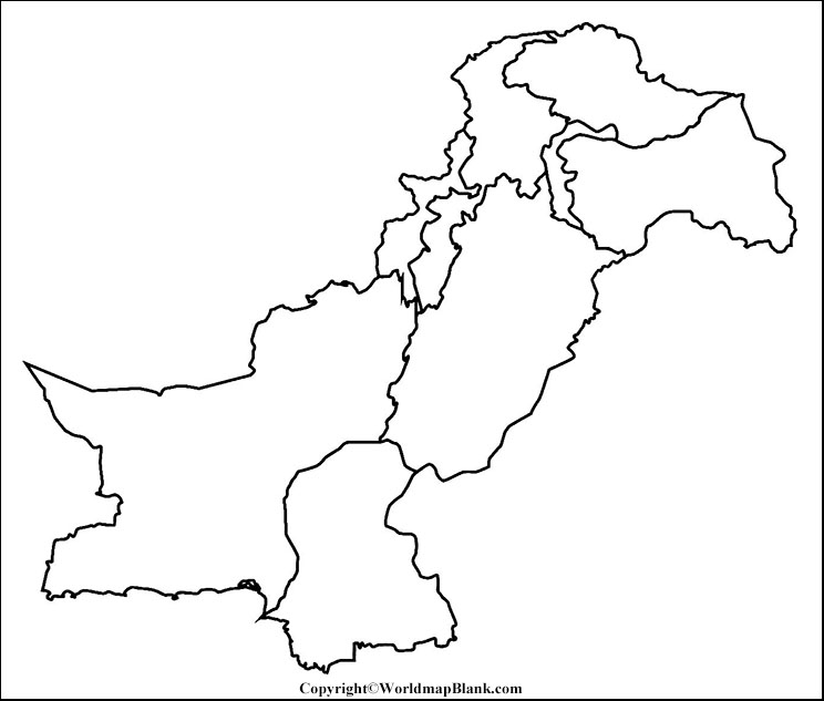 Blank Map of Pakistan