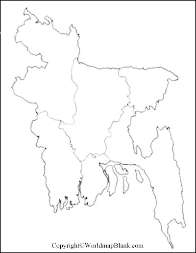 Printable Map of Bangladesh