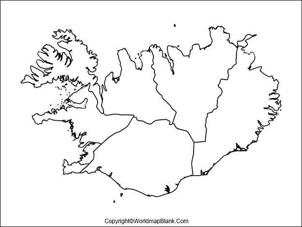 Printable Map of Iceland