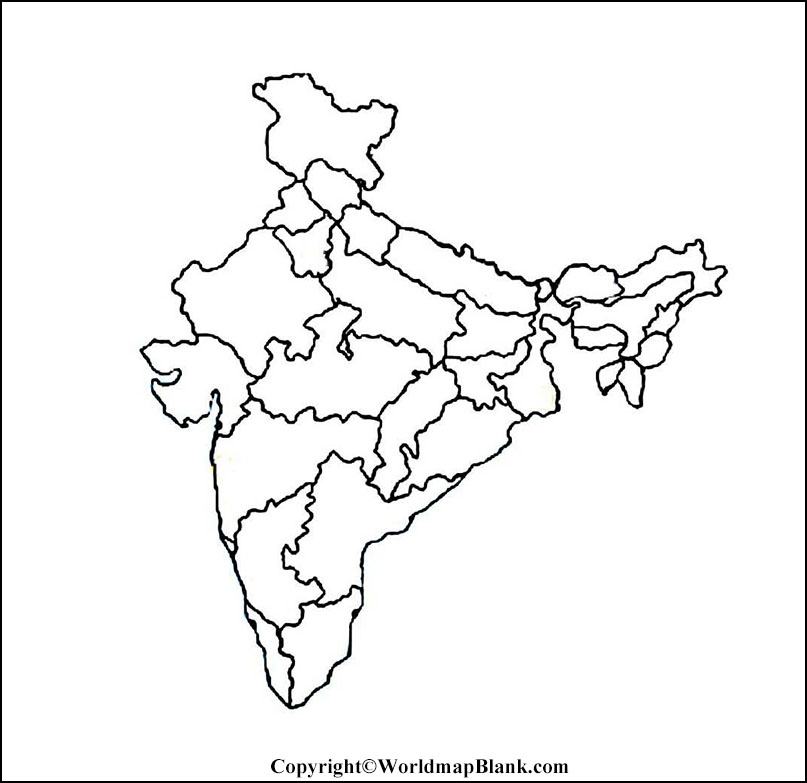 Blank Printable India Map | World Map Blank and Printable
