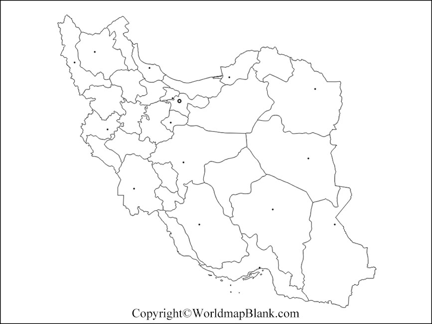 Printable Map of Iran