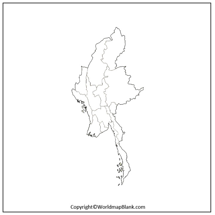 Printable Map of Myanmar
