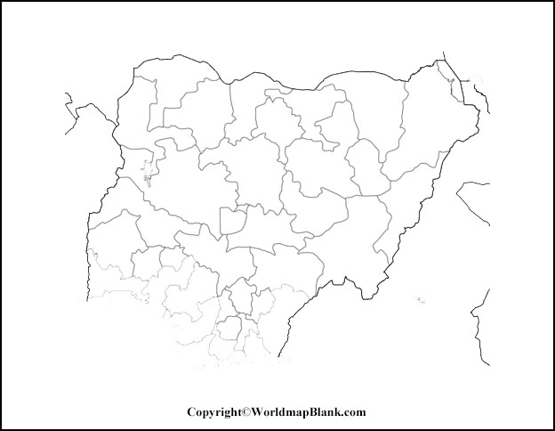 Printable Map of Nigeria