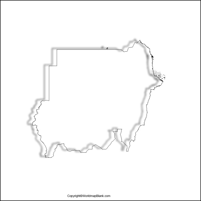 Printable Map of Sudan