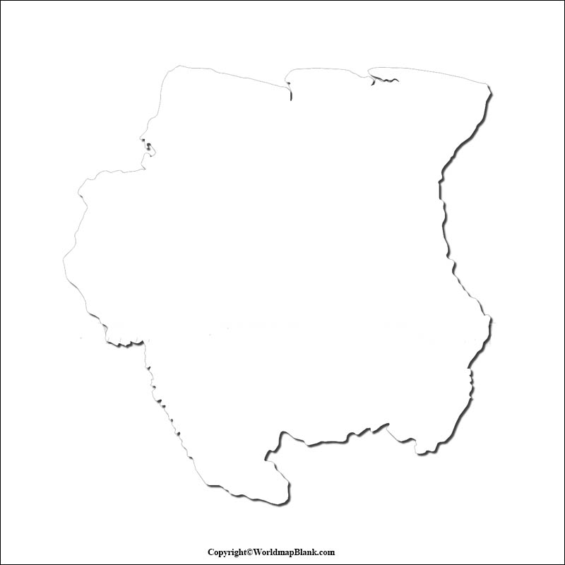 Printable Map of Suriname