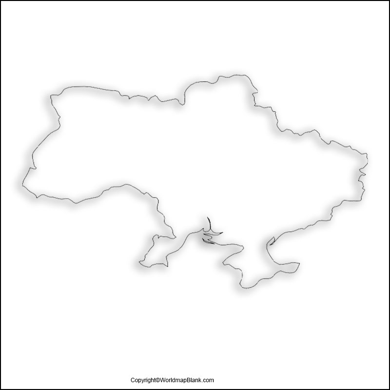 Printable Map of Ukraine
