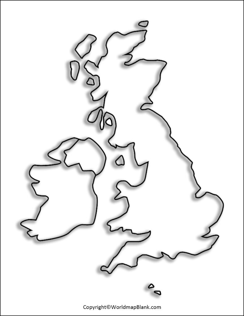 Printable Map of UK