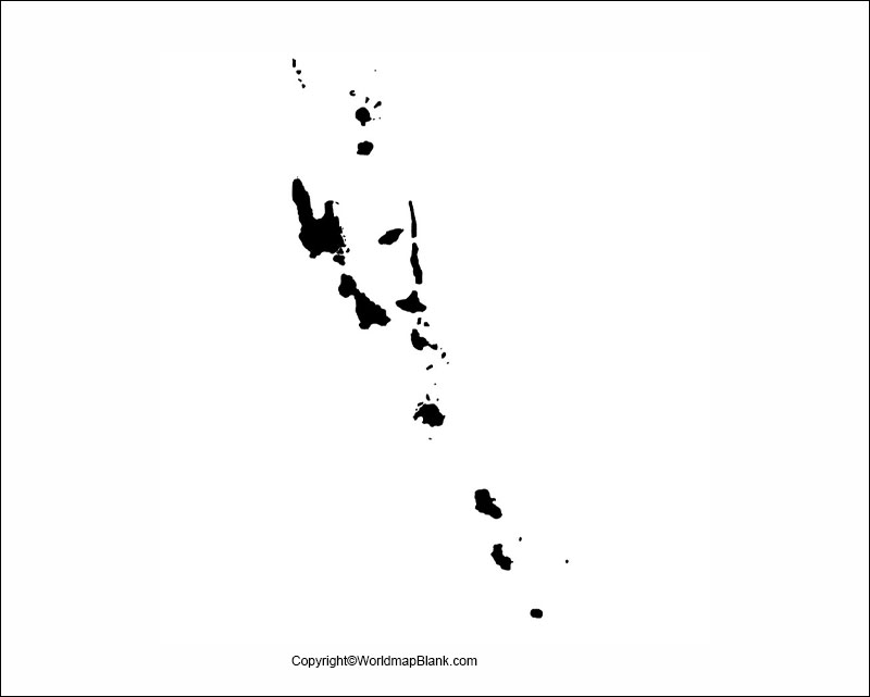 Printable Map of Vanuatu