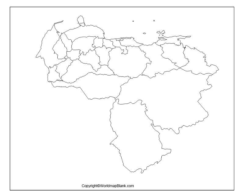 Printable Map of Venezuela