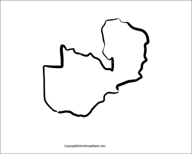 Printable Map of Zambia