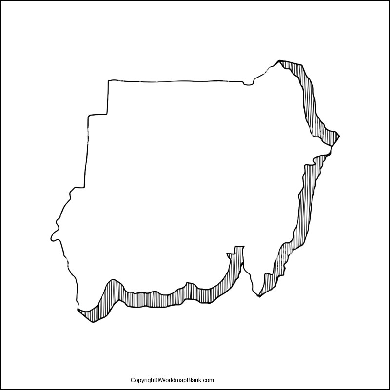 Sudan Blank Map Outline