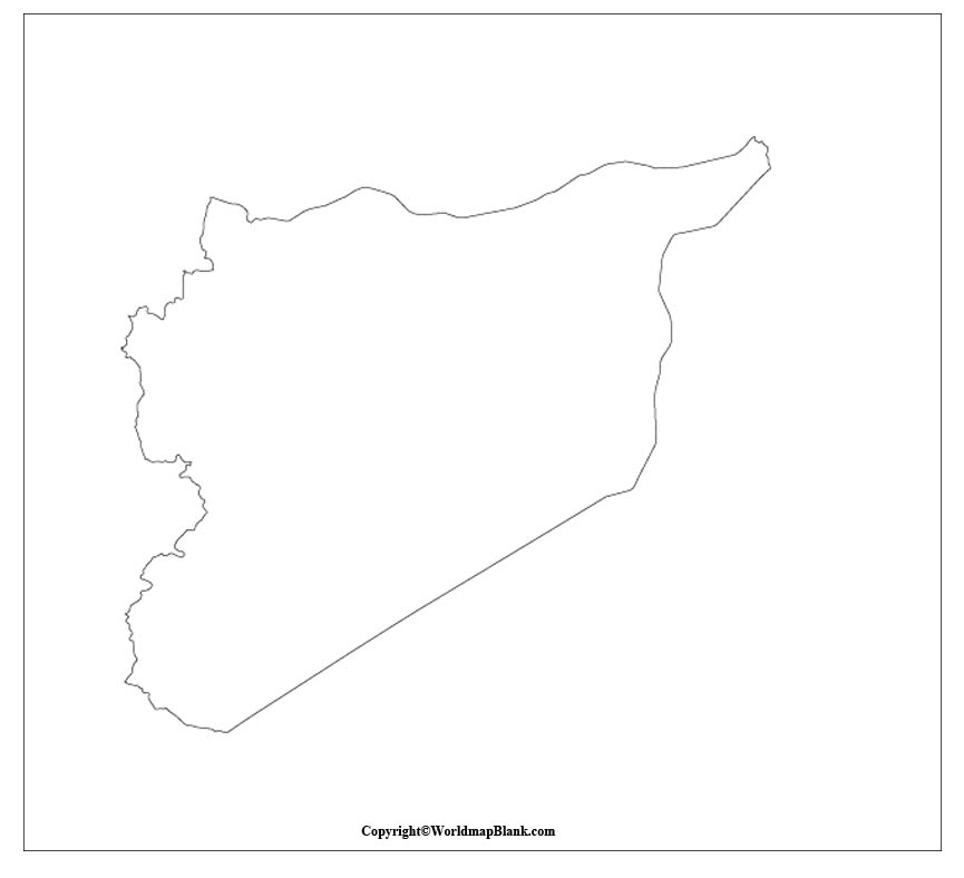 Syria Blank Map Outline
