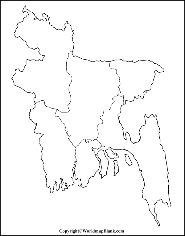 Transparent PNG Bangladesh Map