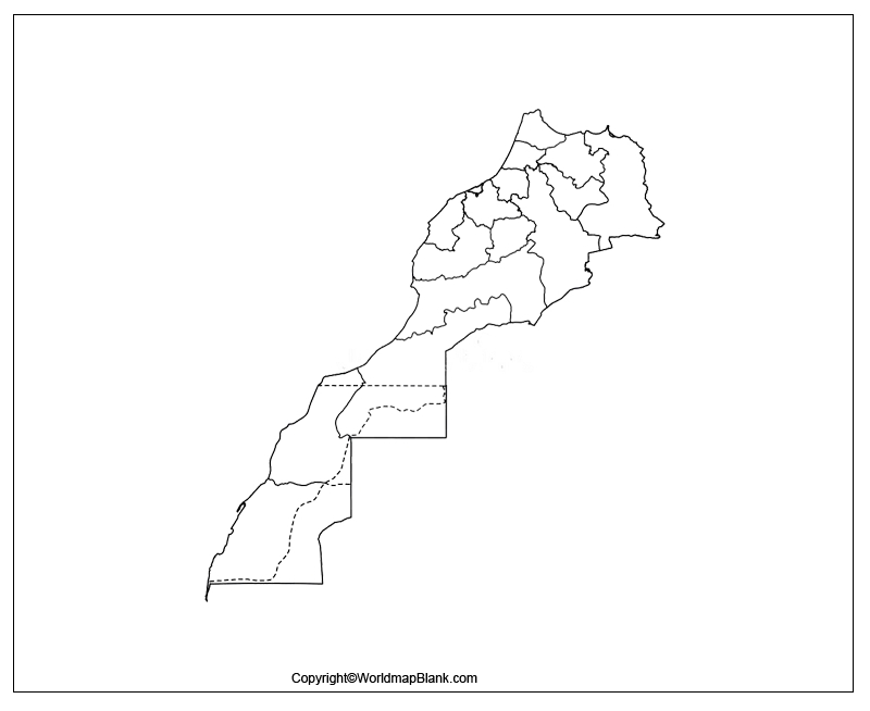Transparent PNG Morocco Map