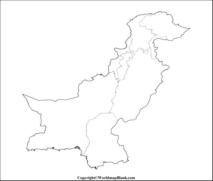 Transparent Blank Map of Pakistan
