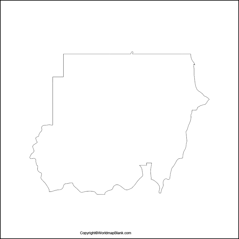 Transparent PNG Map of Sudan
