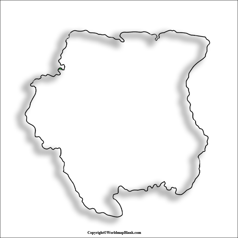 Transparent PNG Suriname Map