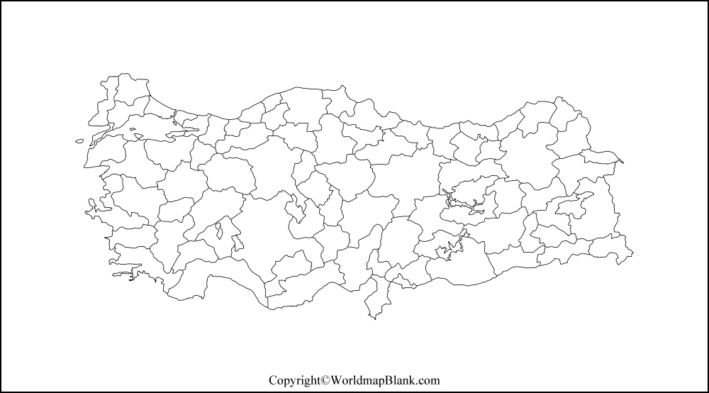 Transparent PNG Blank Map of Turkey