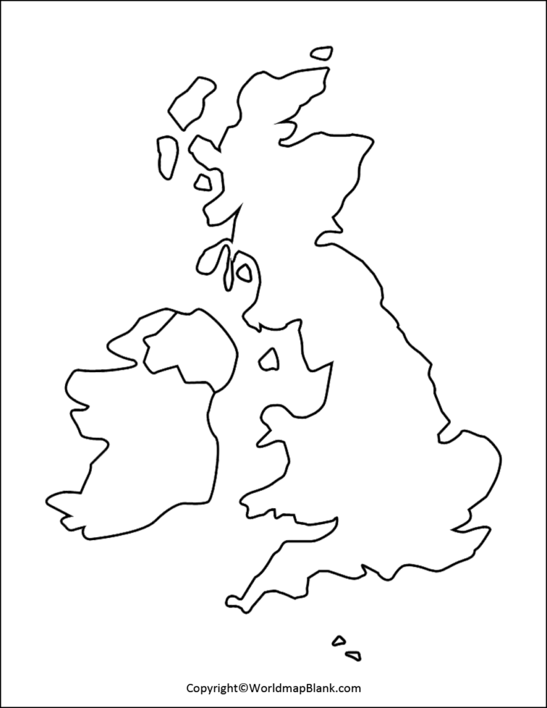 Transparent PNG UK Map