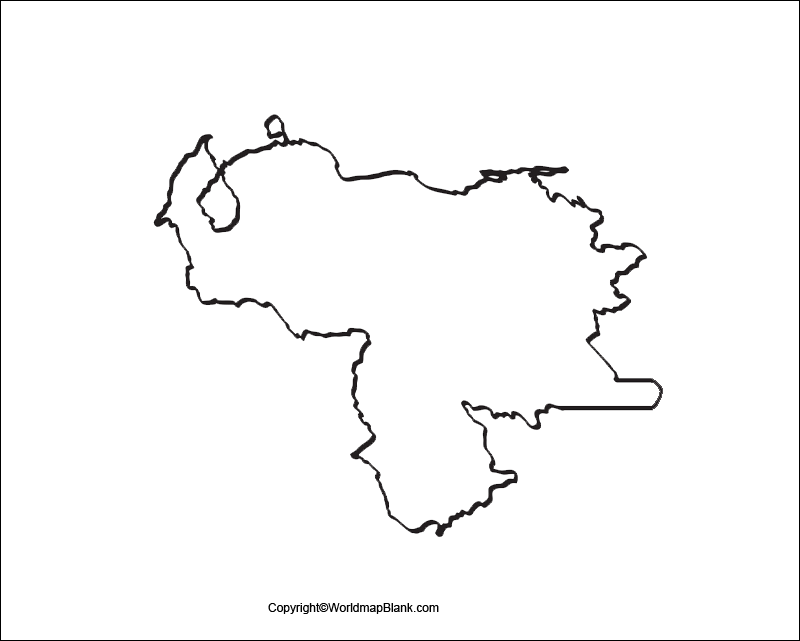 Transparent PNG Map of Venezuela