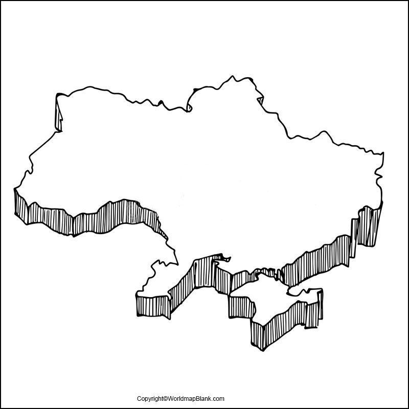 Ukraine Blank Map Outline