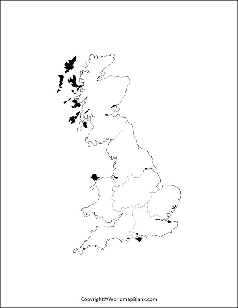 Blank Map Of UK Outline