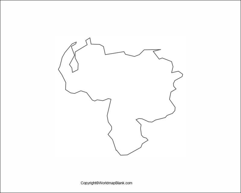 Venezuela Blank Map Outline
