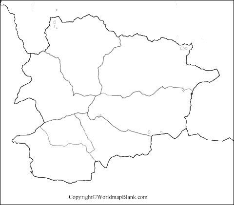 Blank Map of Andorra