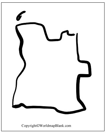 Angola Blank Map Outline