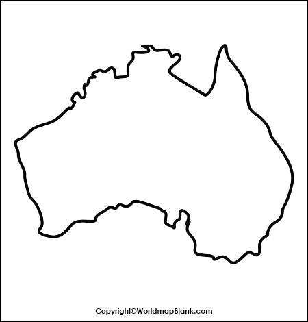 Australia Blank Map Outline