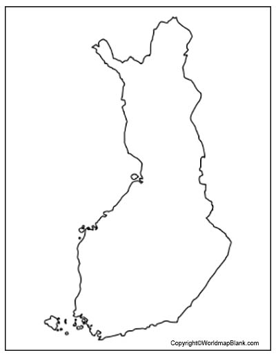 Finland Blank Map Outline