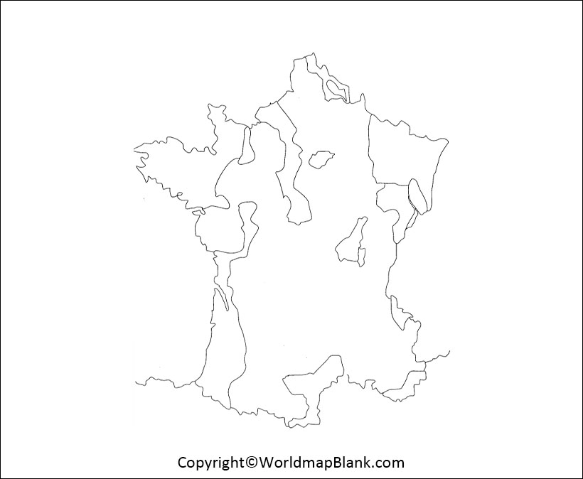 Blank Map of France Outline