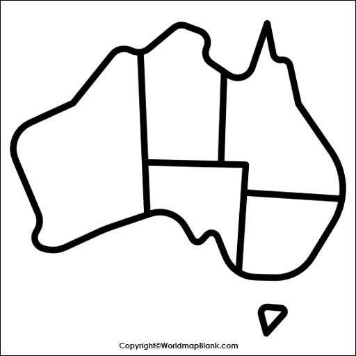 Map of Australia Practice Worksheet