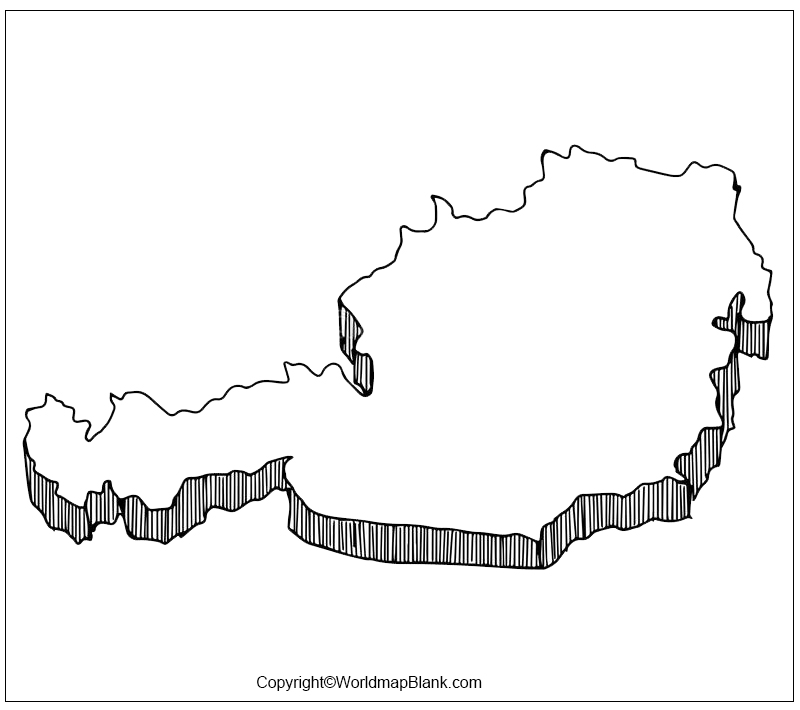 Map of Austria Practice Worksheet